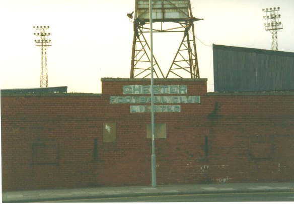 Sealand Road 1990 Copyright © www.chesterfootballhistory.com