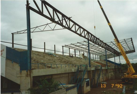 Demolition of the stand roof Copyright © http://www.chesterfootballhistory.com