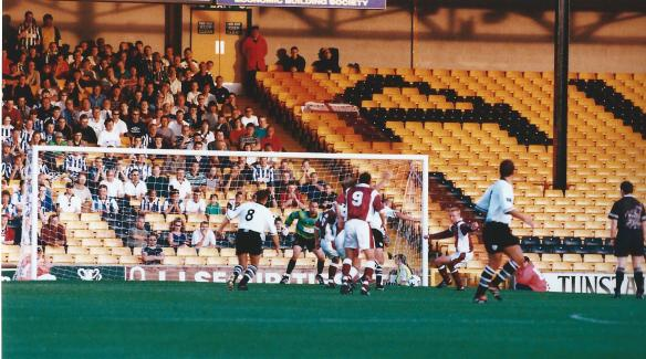 Sitting under the stand roof - Port Vale v Chester in September 1998 Copyright © NWN Media